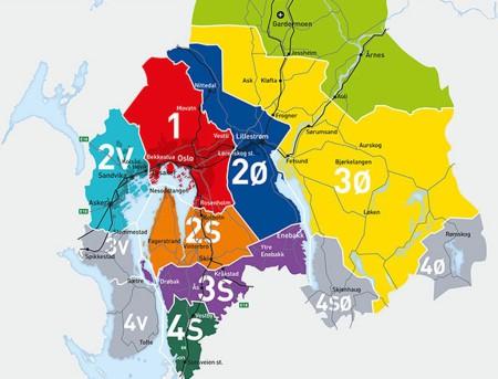 Карта зон Осло