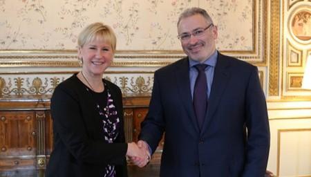 Министр иностранных дел Швеции Маргот Вальстрём встретилась с вором Ходорковским