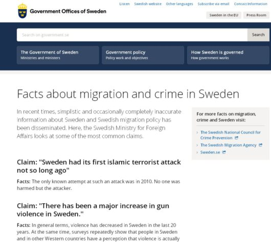 Facts about migration and crime in Sweden – Факты о миграции и преступности в Швеции