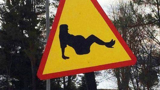 Беременные женщины на шведских дорогах