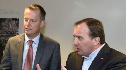 Министр внутренних дел Швеции Андерс Игеман и премьер-министр Швеции Стефан Лёвен