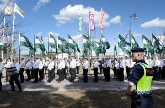 Нацистская демонстрация в шведском Фалуне