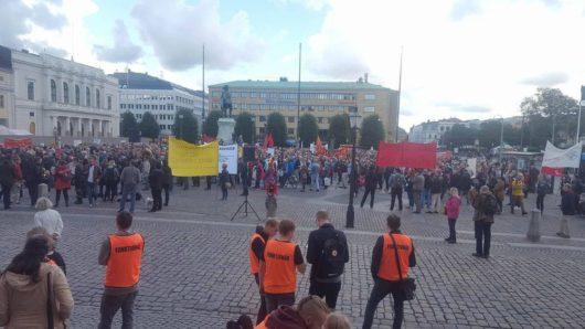 В Швеции прошла демонстрация против НАТО