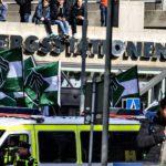 Демонстрация нацистской организации Nordiska motståndsrörelsen