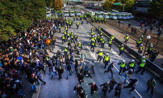 В Швеции прошла разрешённая правительством нацистская демонстрация