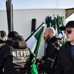 Демонстрация нацистской организации Nordiska motståndsrörelsen (NMR)