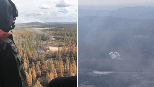 В Швеции тушат лесные пожары бомбами