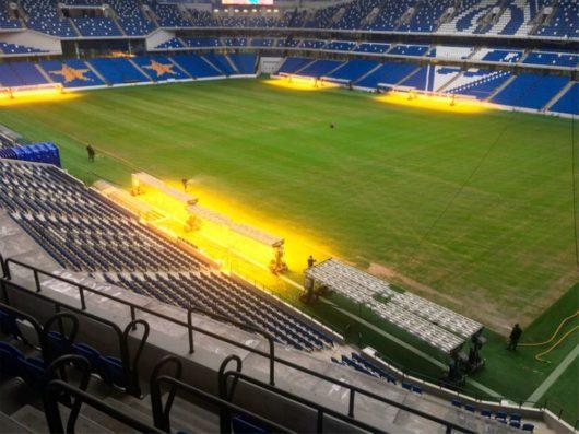 Поле на стадионе «Динамо»