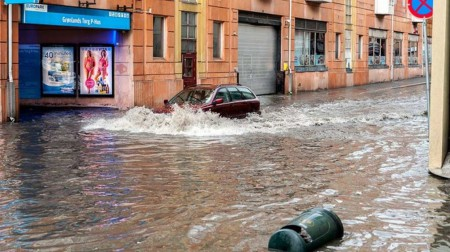 Ливневый дождь вызвал наводнение в Осло