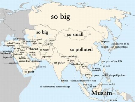Пользователи Google о странах Азии