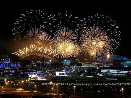 В Сочи прошла церемония открытия зимних Олимпийских игр-2014