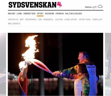 Sydsvenskan об открытии Олимпиады в Сочи