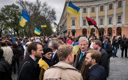 Министр иностранных дел Швеции посетил митинг «Правого Сектора»