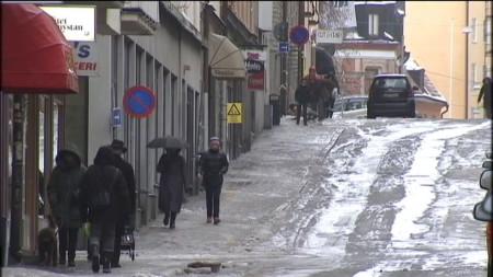 Гололёд в Швеции