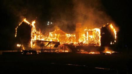 В Швеции сгорел пункт приёма беженцев