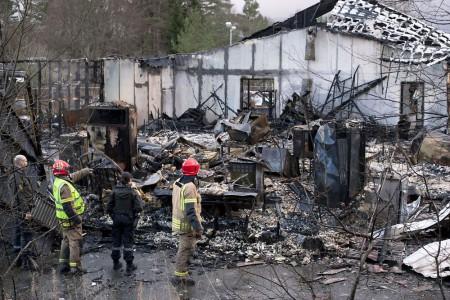 В Норвегии сгорел отель Hotell Lune Huler