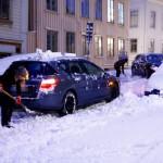 Снегопад в Швеции