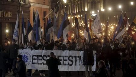 Шведские нацисты приняли участие в факельном шествии в Эстонии