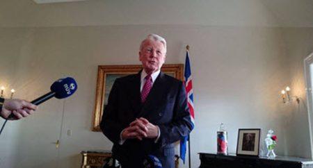 Многолетний президент Исландии Олафур Рагнар Гримссон