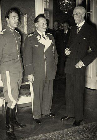 Принц Швеции Густав Адольф, Герман Геринг и король Швеции Густав V в Берлине в 1939 г.