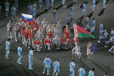 Белорусские спортсмены пронесли флаг России на церемонии открытия Паралимпиады-2016