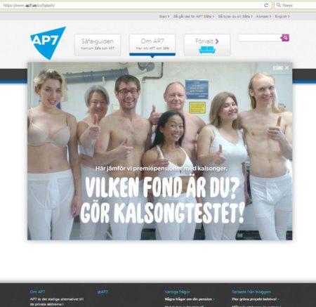 Сайт пенсионного фонда AP7 (ap7.se)