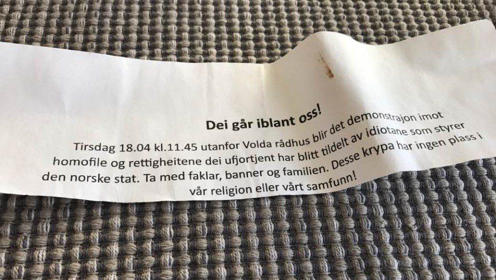 Норвежцев пригласили на демонстрацию против гомосексуалистов и правительства