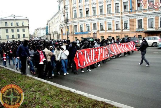 Свиньи из мультикультурной столицы припёрлись в Санкт-Петербург