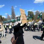 Демонстрация шведских нацистов