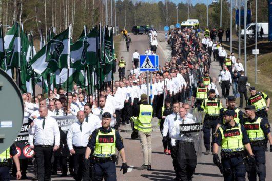 Нацистская демонстрация в Швеции