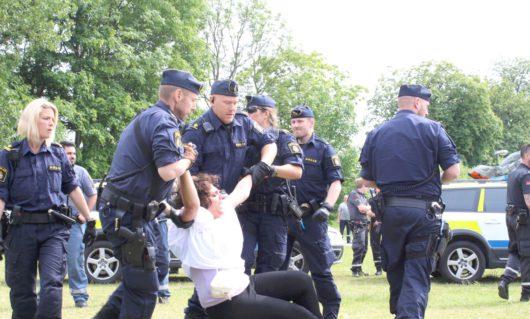 Полиция задержала демонстрантов у Миграционного управления в Мальмё