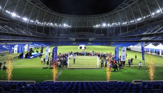 22 октября 2017 г. на реконструируемом с 2008 г. стадионе «Динамо» торжественно открыли новое поле