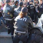 Между участниками и противниками манифестации SIAN встали полицейские