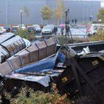 12 октября в  городе Лудвика/Ludvika сошёл с рельсов грузовой поезд