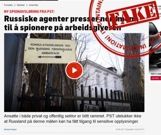 TV2: Россия заставляет норвежцев шпионить за своими работодателями