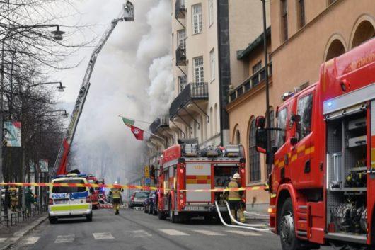 При пожаре в посольском здании в Стокгольме пострадали 14 человек