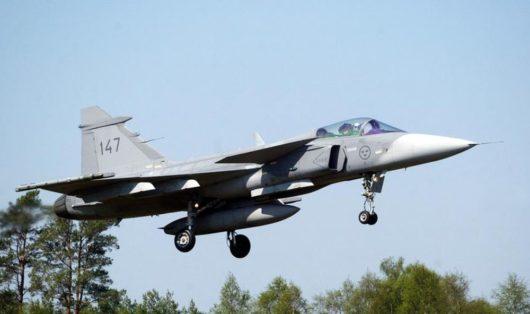 JAS 39 Gripen разбился на юге Швеции