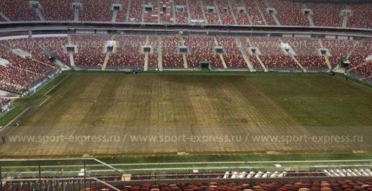 Поле на стадионе «Лужники» после концертов