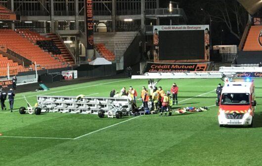 На стадионе «Мустуар» во французском Лорьяне погиб рабочий