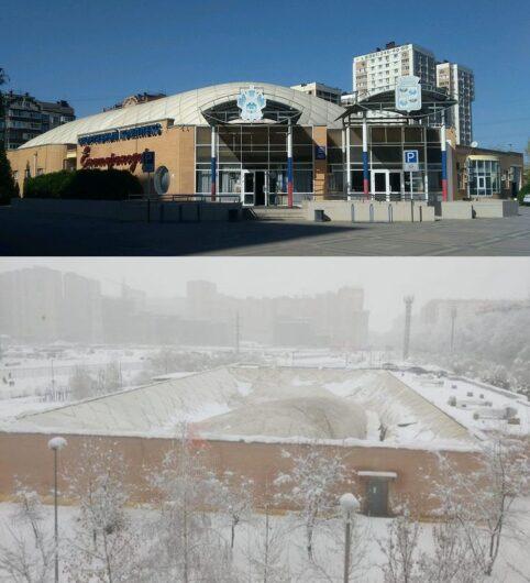 В Краснодаре  обрушилась крыша спорткомплекса «Екатеринодар»