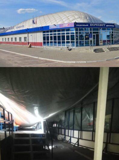 В Брянске произошло обрушение купольной крыши ледового дворца «Пересвет»